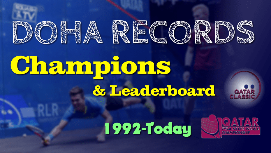 Doha's Past Champions and Records - Qatar Classic, International and World Championship