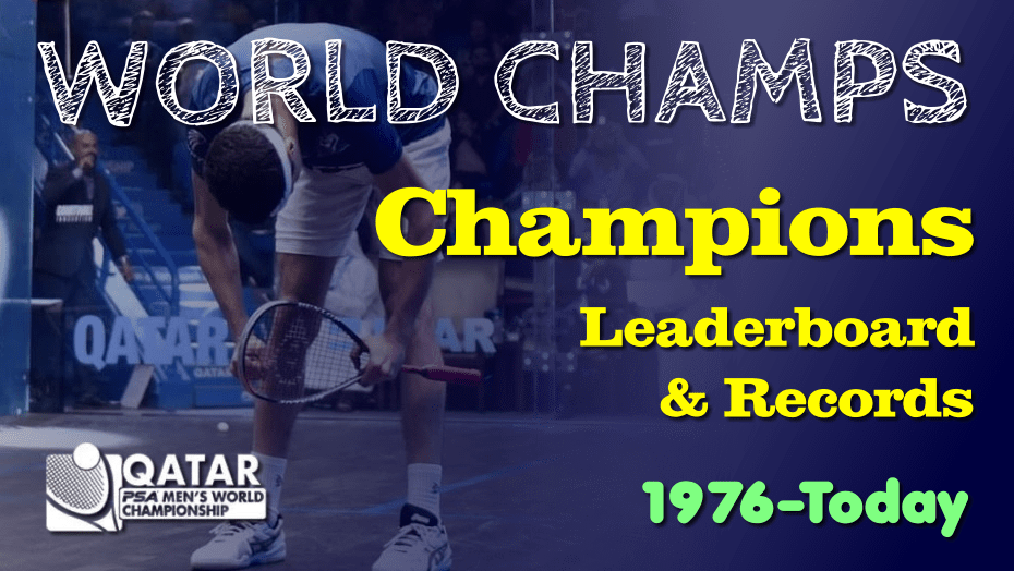 PSA World Championship. Past Champions and Records