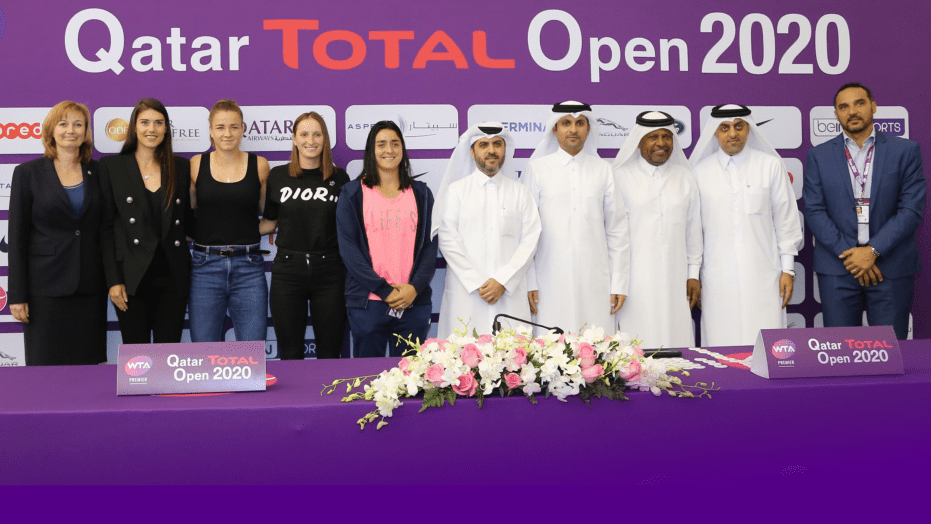 Andy Taylor Announcer. Qatar Total Open 2020. Draw Participants