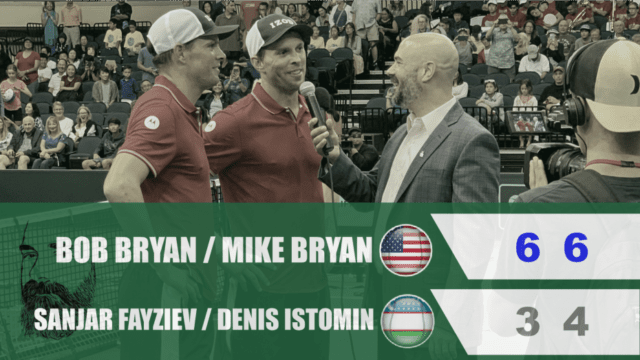 Announcer Andy Taylor. Davis Cup Qualifier 2020. Day2. Match1. Bob Mike Bryan