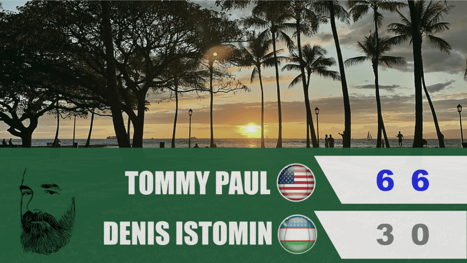 Announcer Andy Taylor. Davis Cup Qualifier 2020. Day2. Match2. Tommy Paul