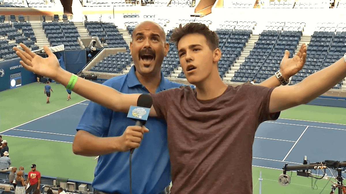 Announcer Interview. Jacob Whitesides on Arthur Ashe Kids Day